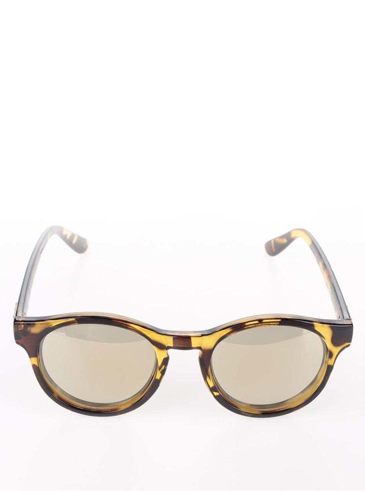 Hnědé dámské želvovinové sluneční brýle Le Specs Hey Macarena