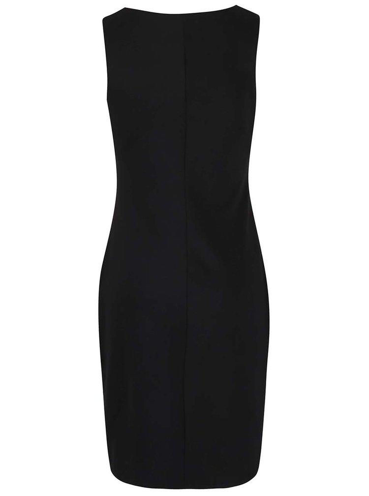 Krémovo-černé šaty s vlčími máky Smashed Lemon