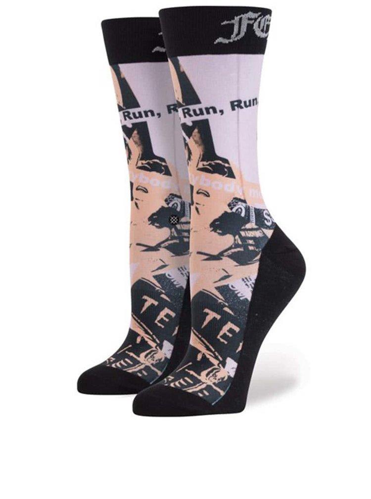 Černo-růžové vzorované dámské ponožky Stance Most Wanted