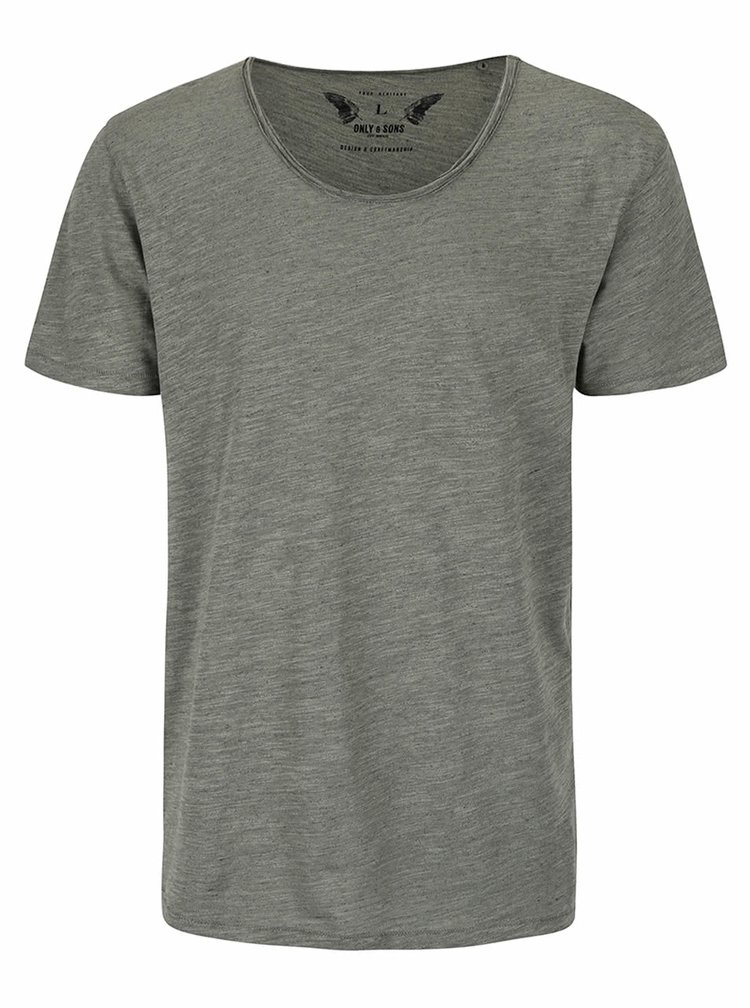 Tricou basic gri din bumbac - ONLY & SONS Albert
