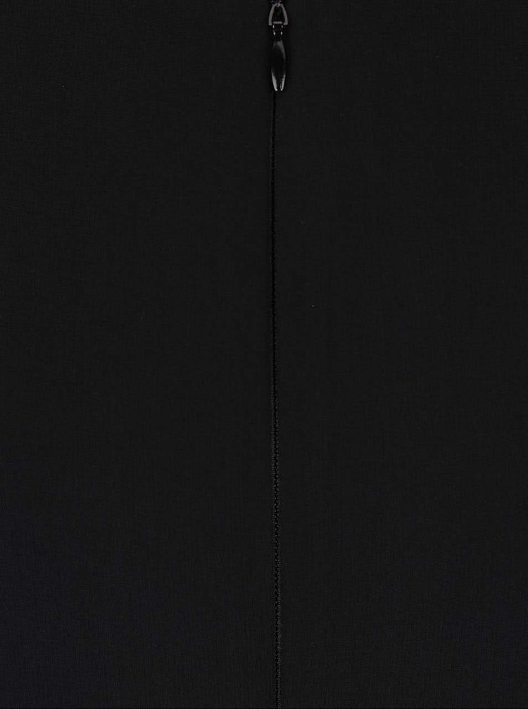 Čierne midišaty s opaskom a skladaním na živôtiku Dorothy Perkins