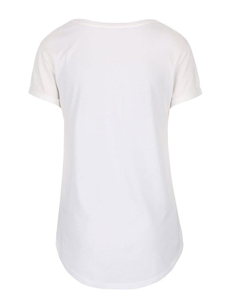 Krémové tričko s nášivkami Dorothy Perkins