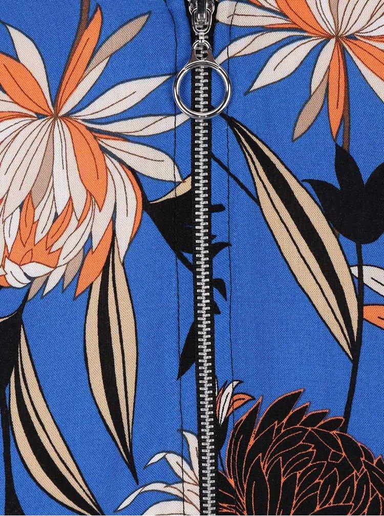 Modrý květovaný bomber Dorothy Perkins