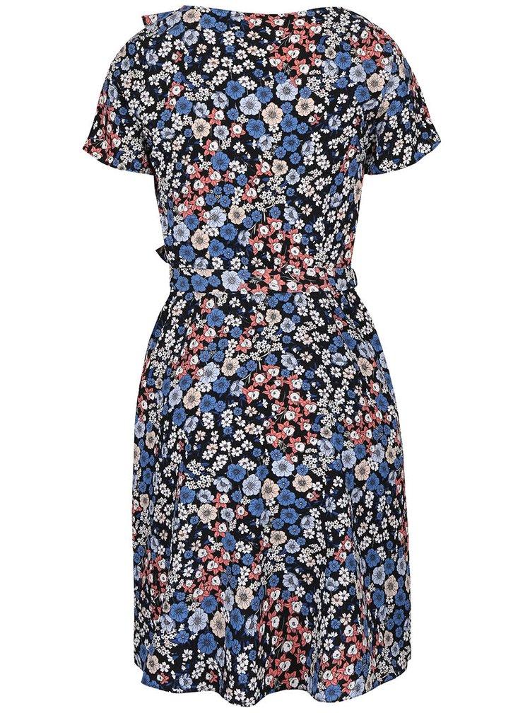 Čierno-modré šaty so zaväzovaním v páse Dorothy Perkins