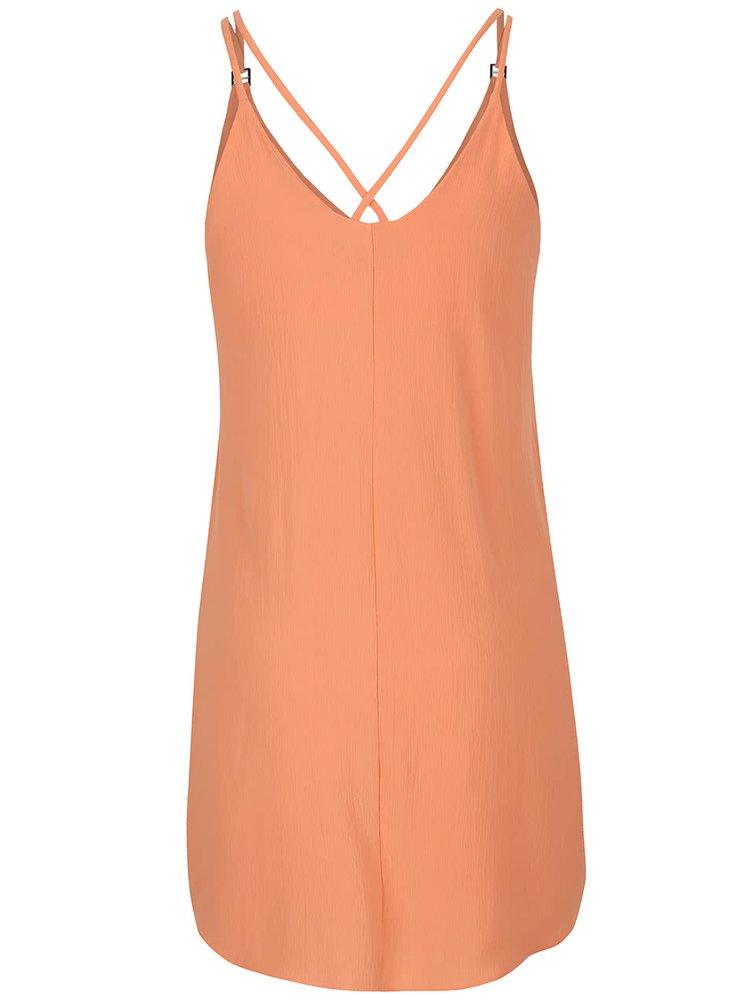 Marhuľové krepové šaty Dorothy Perkins