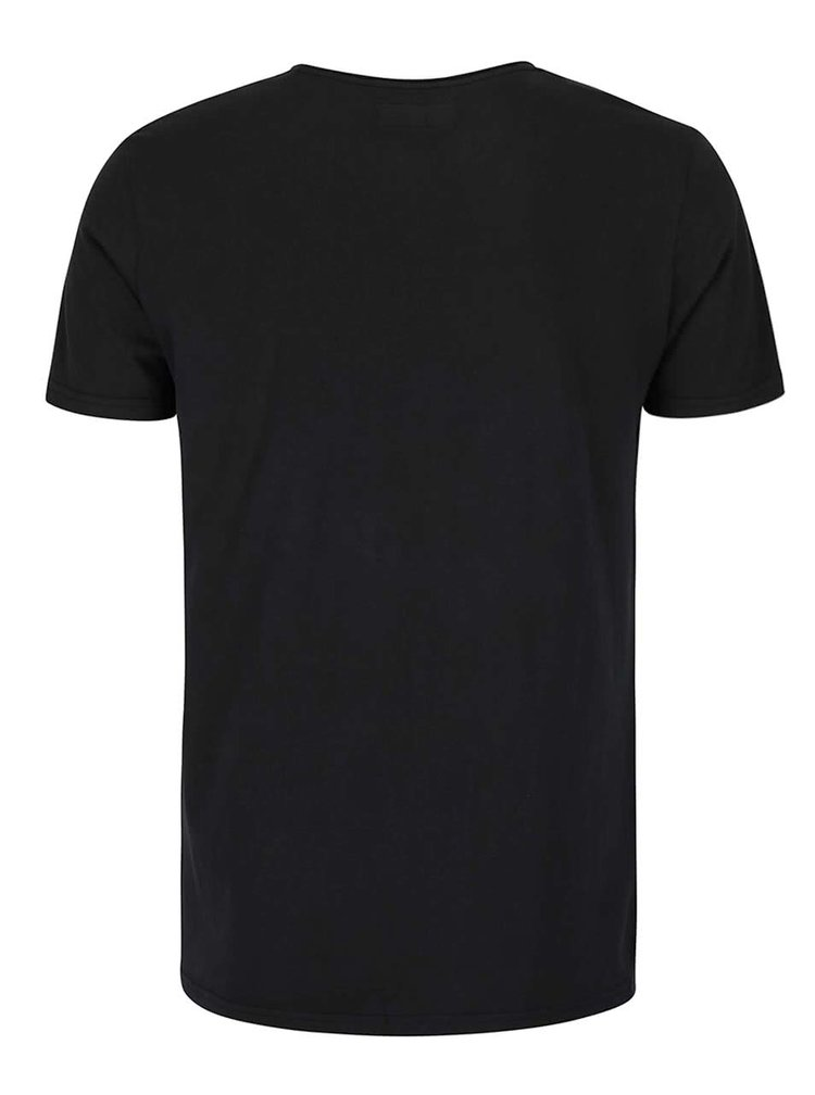 Tricou negru cu buzunar la piept -  Shine Original Andy