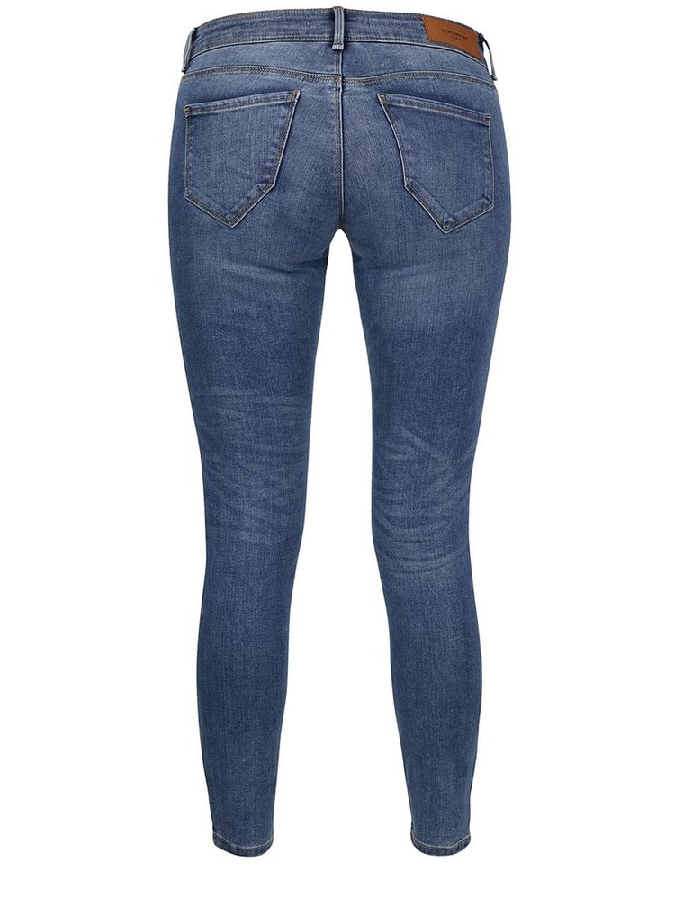 Modré slim fit skrátené rifle VERO MODA Five