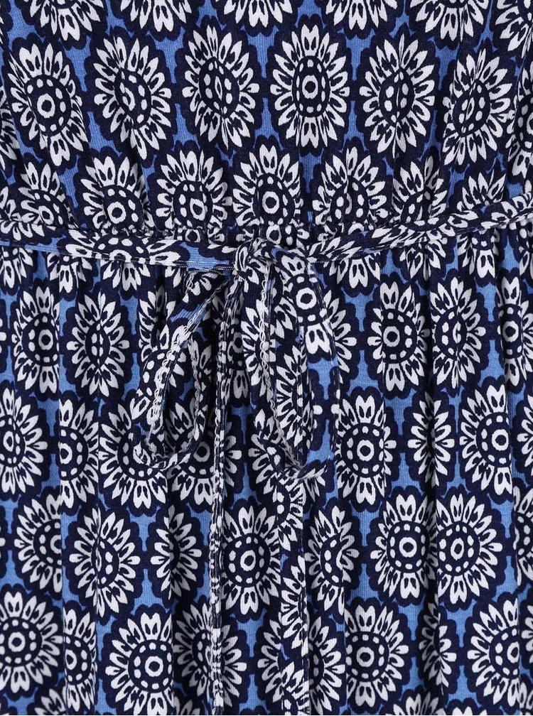 Modré maxišaty s květinovým vzorem Dorothy Perkins