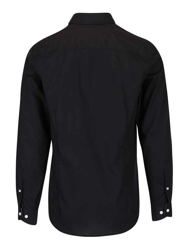 Černá slim fit košile Selected Homme Xoneandy