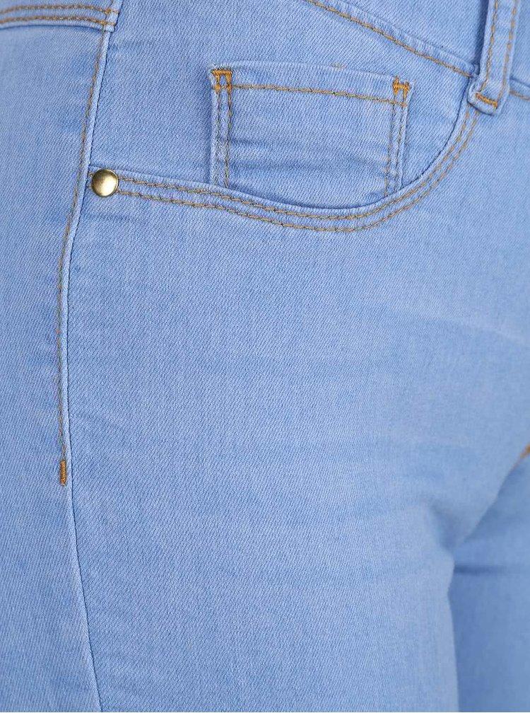 Blugi albastru deschis Dorothy Perkins din material elastic