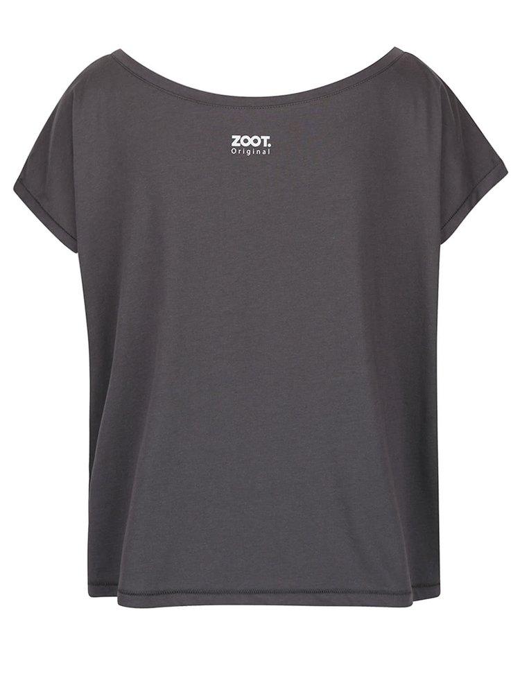Tmavě šedé dámské volné tričko ZOOT Originál Electric Castle