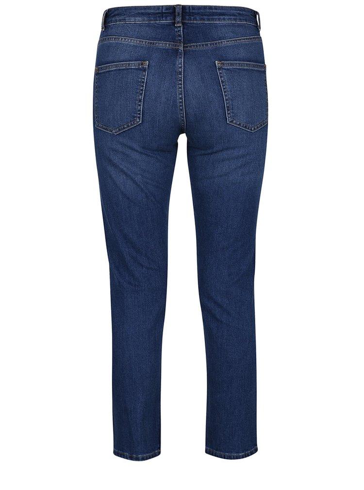 Modré rovné džíny s nášivkami Dorothy Perkins