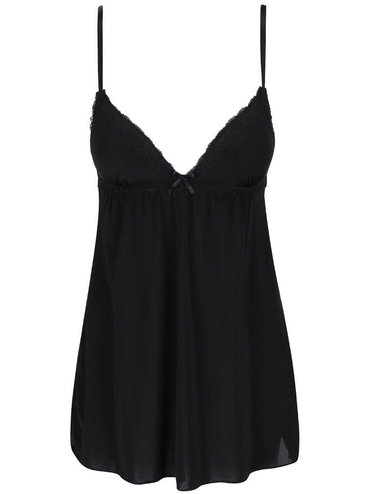Černá noční košilka ICÔNE Leslie