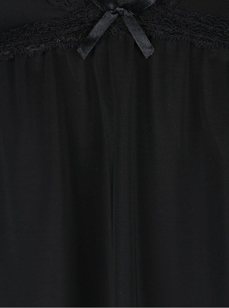 Čierna nočná košieľka ICÔNE Leslie