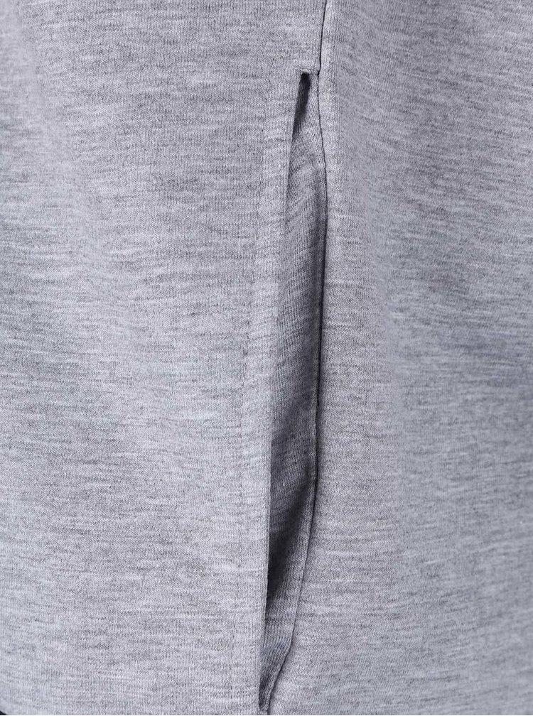 Sivá mikina na zips Jack & Jones Hurricane