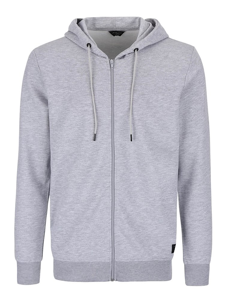 Šedá mikina na zip Jack & Jones Hurricane