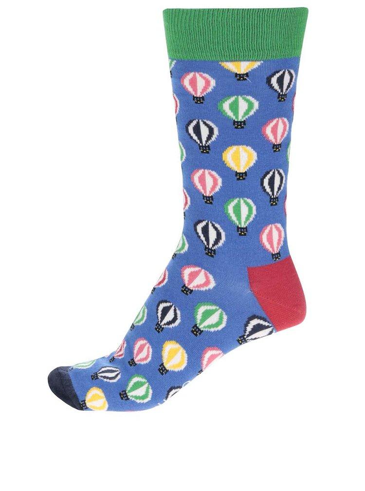 Modré pánské ponožky Happy Socks Balloons