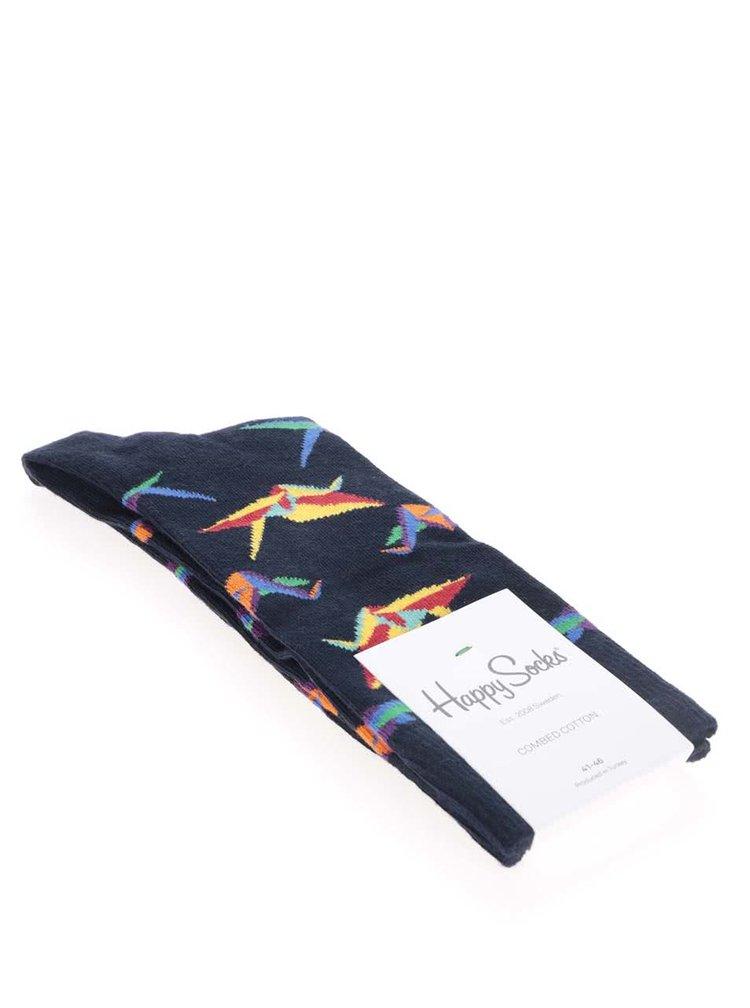Tmavomodré pánske ponožky Happy Socks Original