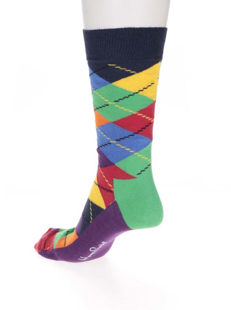 Șosete multicolore cu imprimeu Happy Socks Argyle pentru bărbați