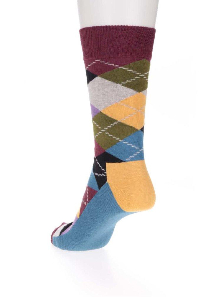 Șosete pentru bărbați Happy Socks Argyle cu imprimeu