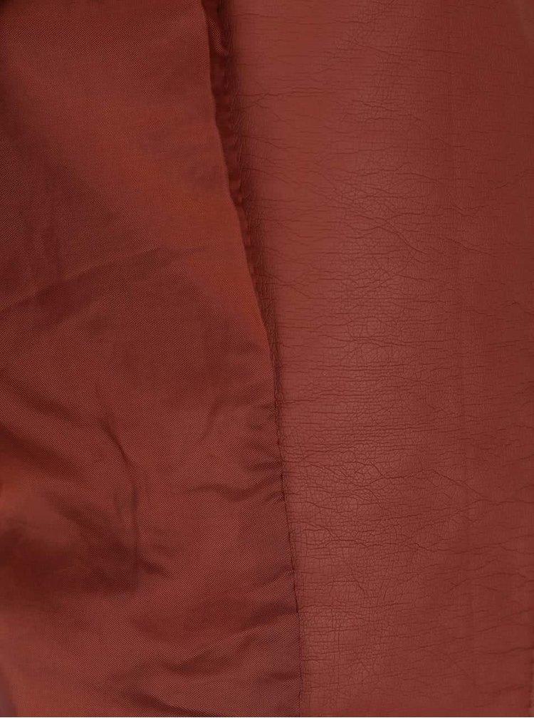 Tehlová koženková bunda ONLY New Start