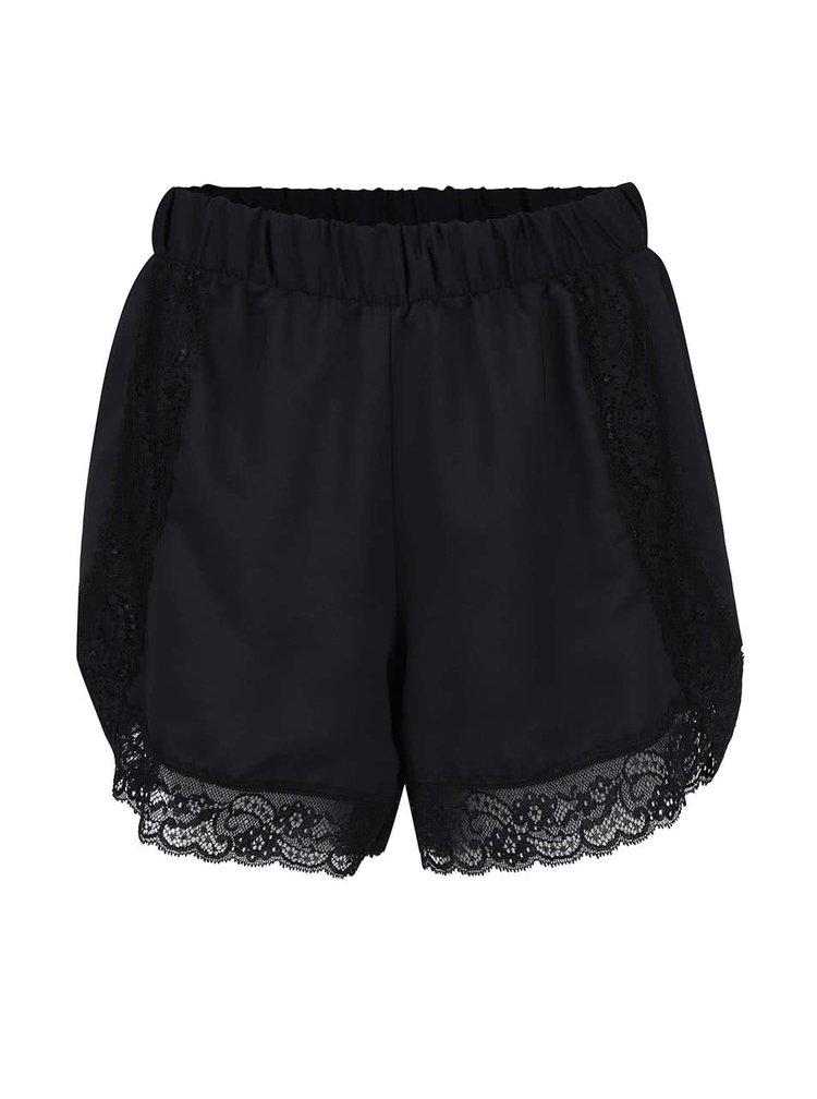 Pantaloni de pijama negri Y.A.S Adie cu dantela