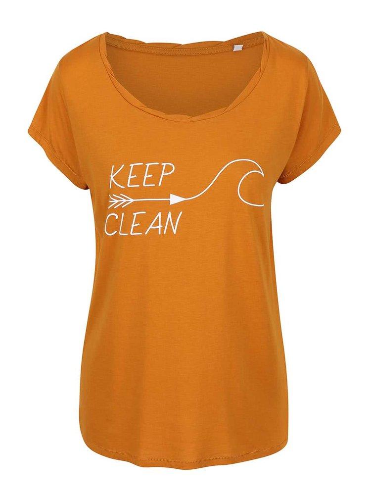 """""""Dobré"""" horčicové dámske tričko KEEPItCLEAN"""