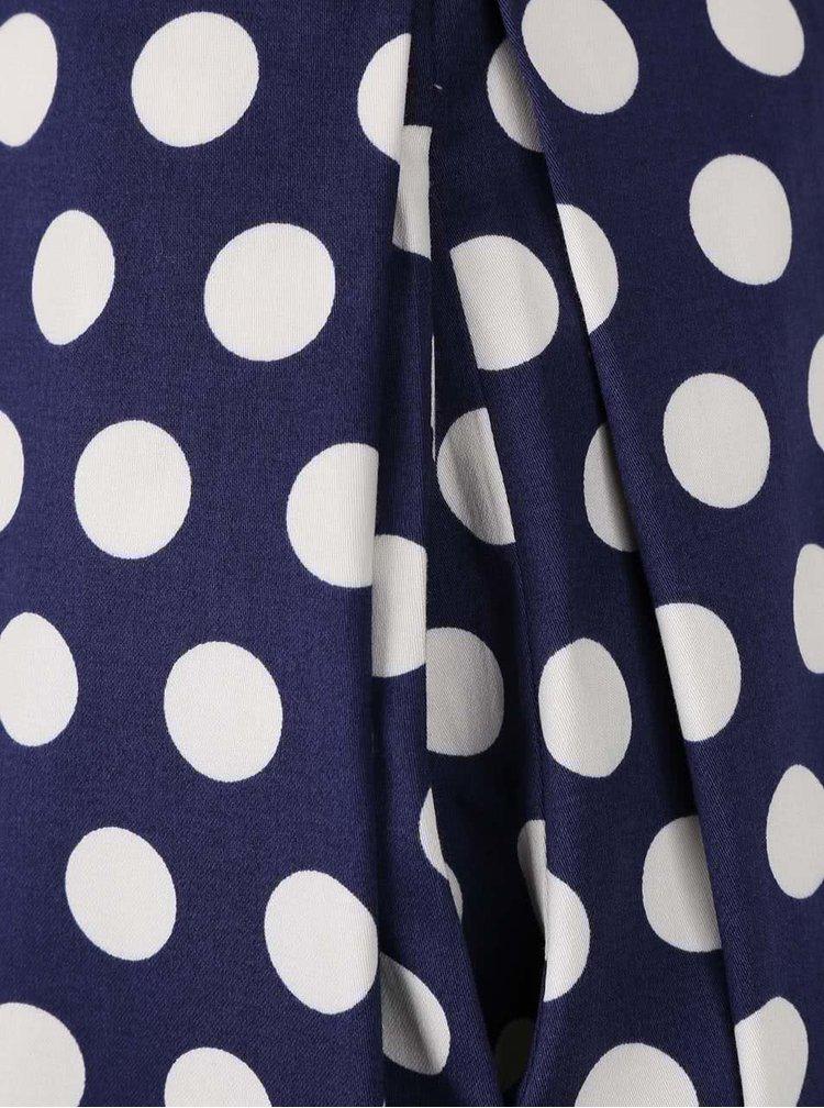 Bílo-modrá puntíkatá sukně Closet