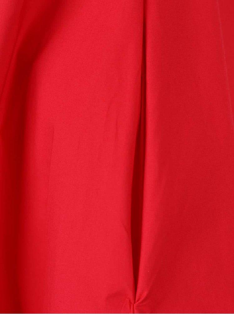Červené propínací šaty Closet