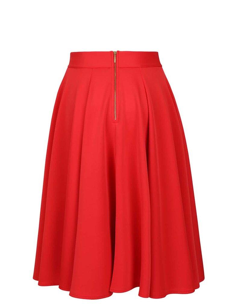 Červená midi sukňa Closet