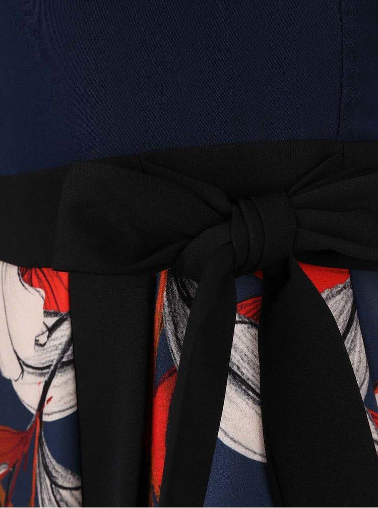 Rochie multicoloră Closet cu model floral şi aspect 2în1