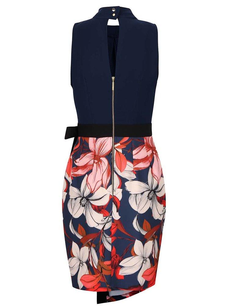 Rochie multicolora Closet cu model floral si aspect 2in1