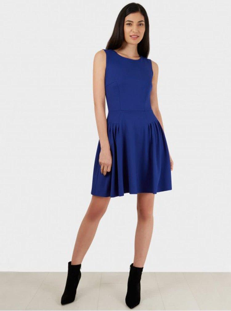 Modré šaty bez rukávov Closet