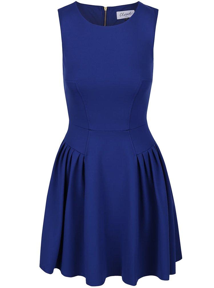 Rochie albastră Closet cu pliuri