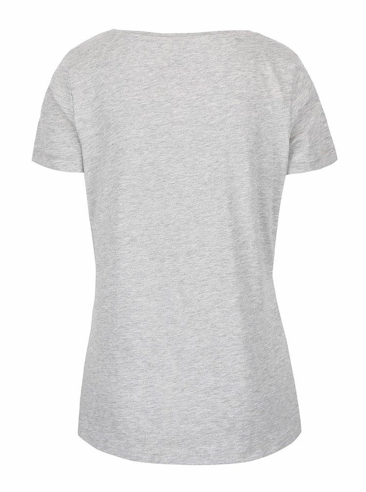 Sivé tričko s potlačou ONLY Relax