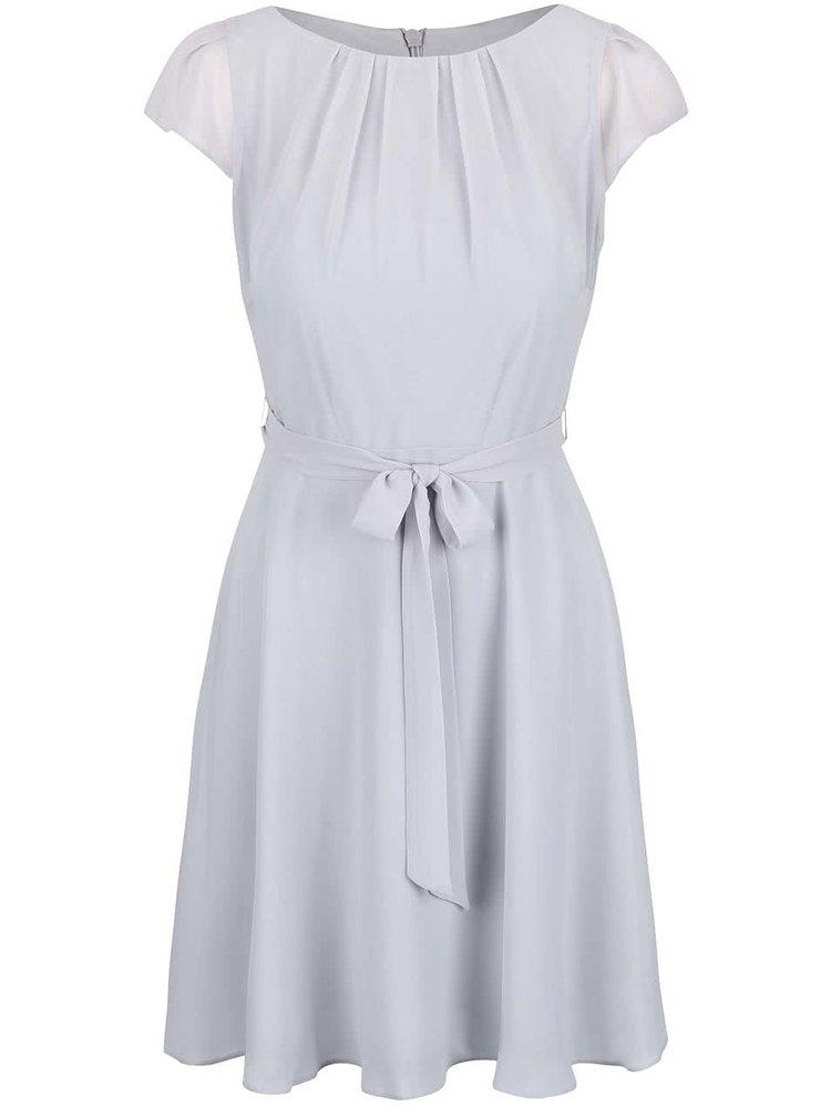 Světle šedé šifonové šaty Dorothy Perkins