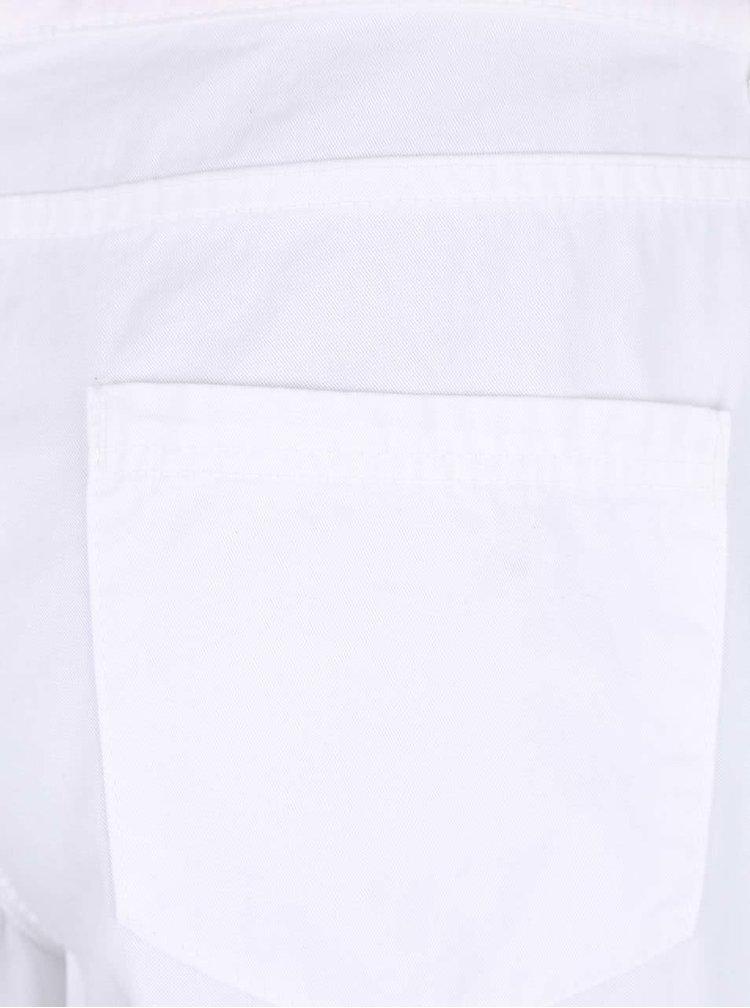Bílé krátké šortky s hnědým páskem Dorothy Perkins