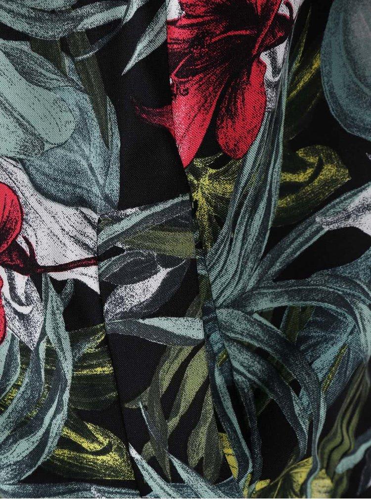 Černý květovaný bomber Dorothy Perkins