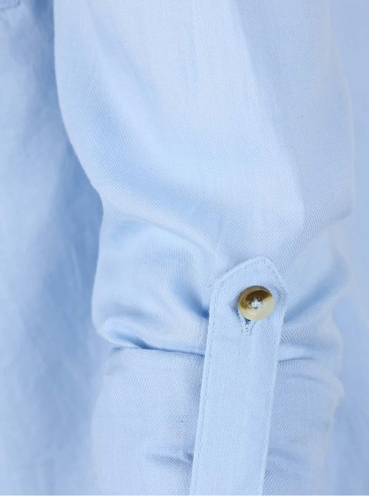Světle modrá propínací košile Dorothy Perkins