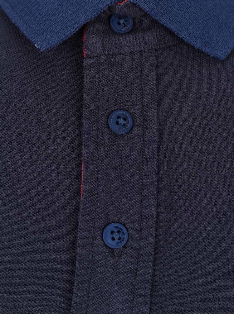 Modrosivá polokošeľa s modrými detailmi Blend
