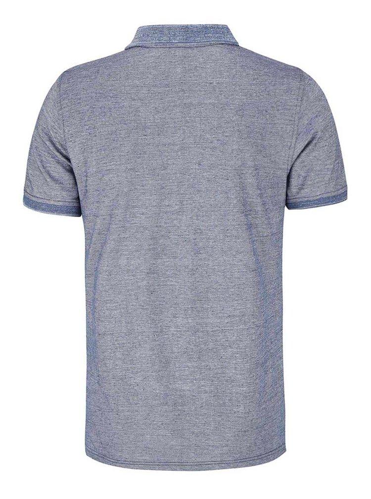 Modré žíhané polo triko Blend