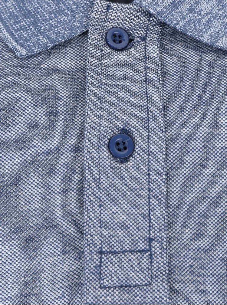 Modrá melírovaná polokošeľa Blend