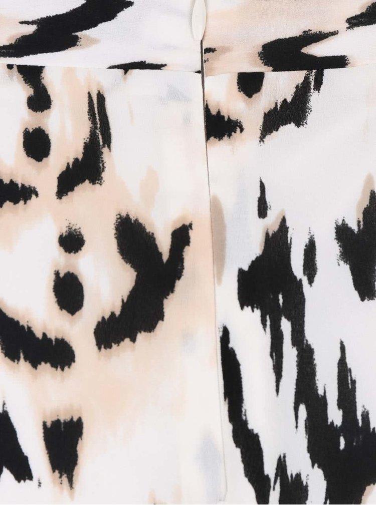 Černo-krémová maxi sukně se zvířecím vzorem Dorothy Perkins