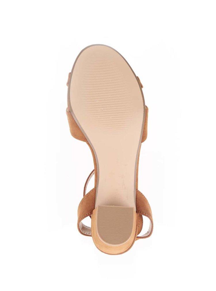 Hnědé sandály s páskem kolem nártu Dorothy Perkins