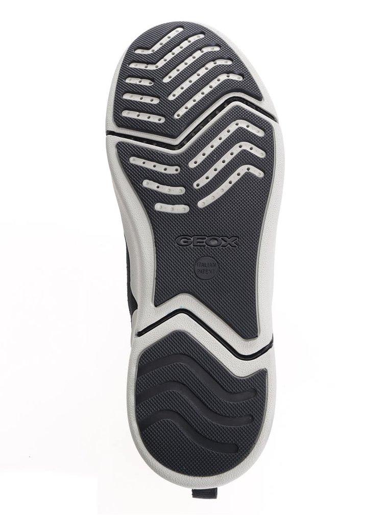 Tmavomodré pánske kožené tenisky Geox Ailand