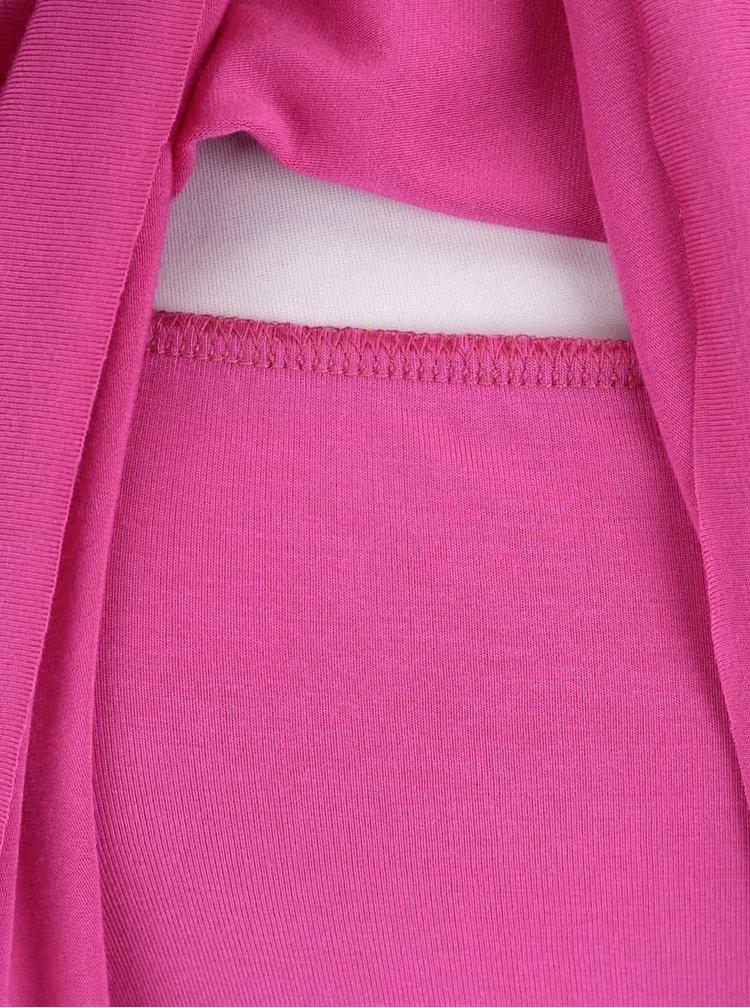 Růžové kojící šaty na ramínka GLOGLO
