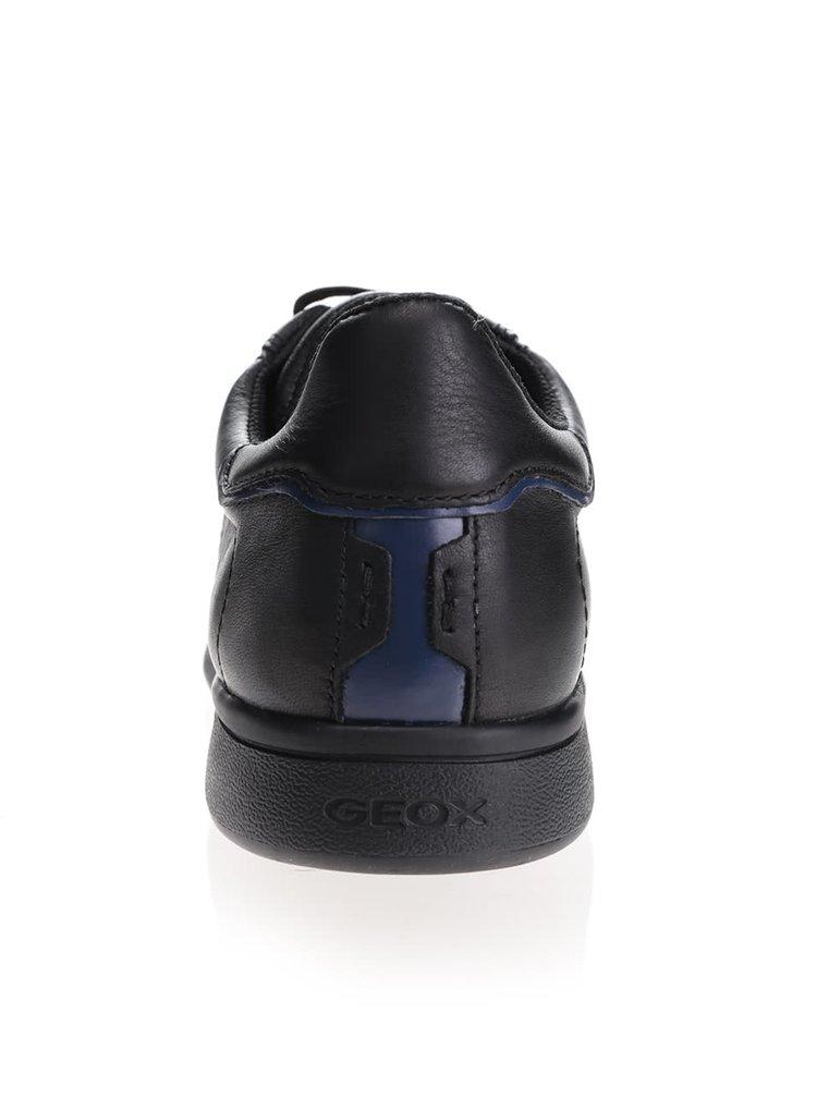 Čierne pánske kožené tenisky Geox Warrens