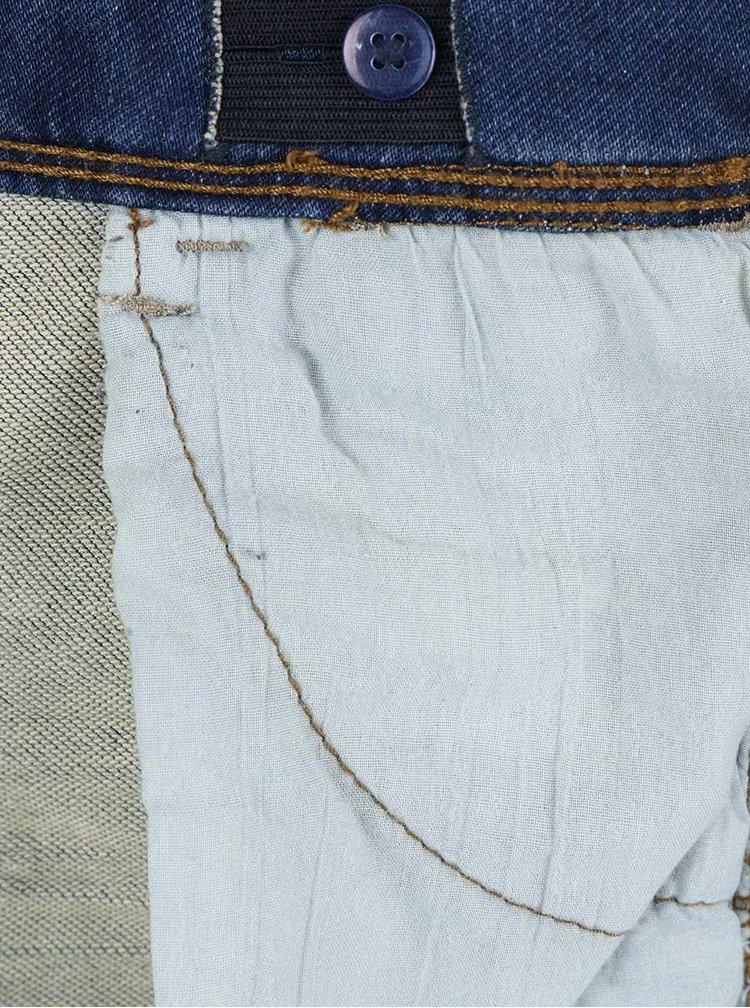 Tmavě modré klučičí slim džíny s knoflíky name it Thor