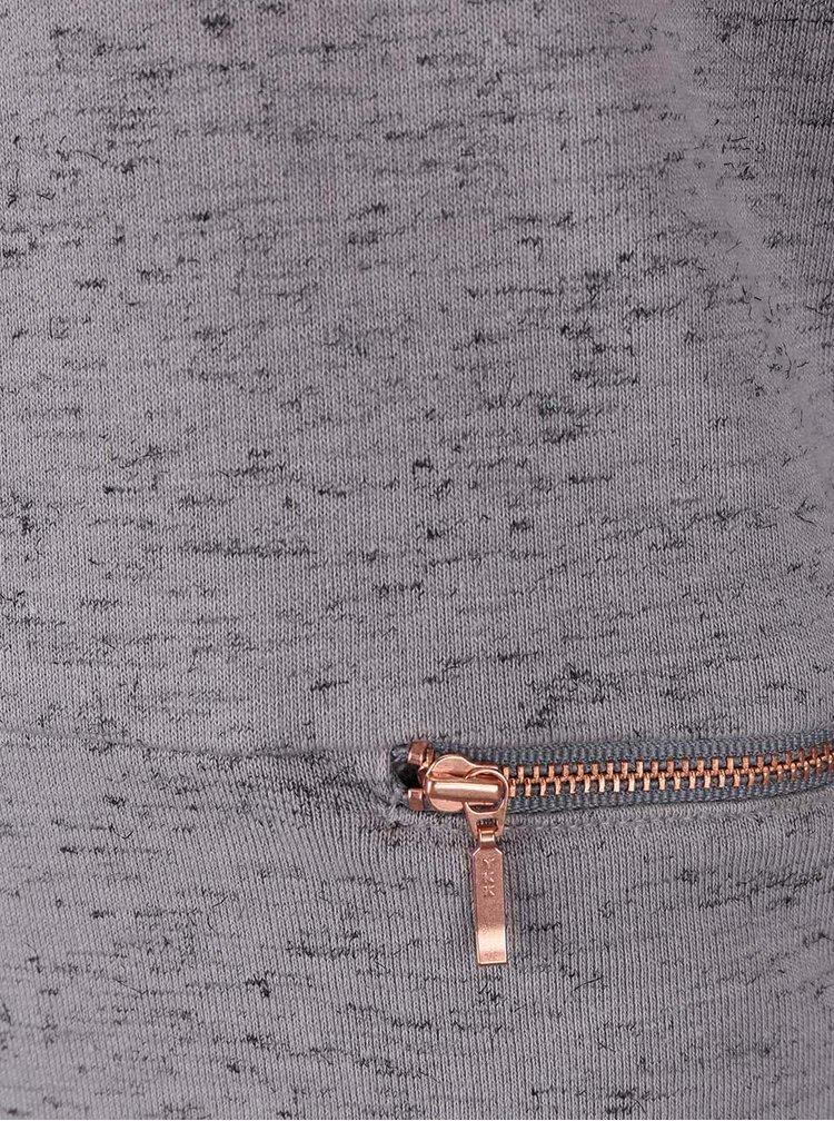 Sivé dievčenské teplákové šaty s potlačou na chrbte name it Lazip