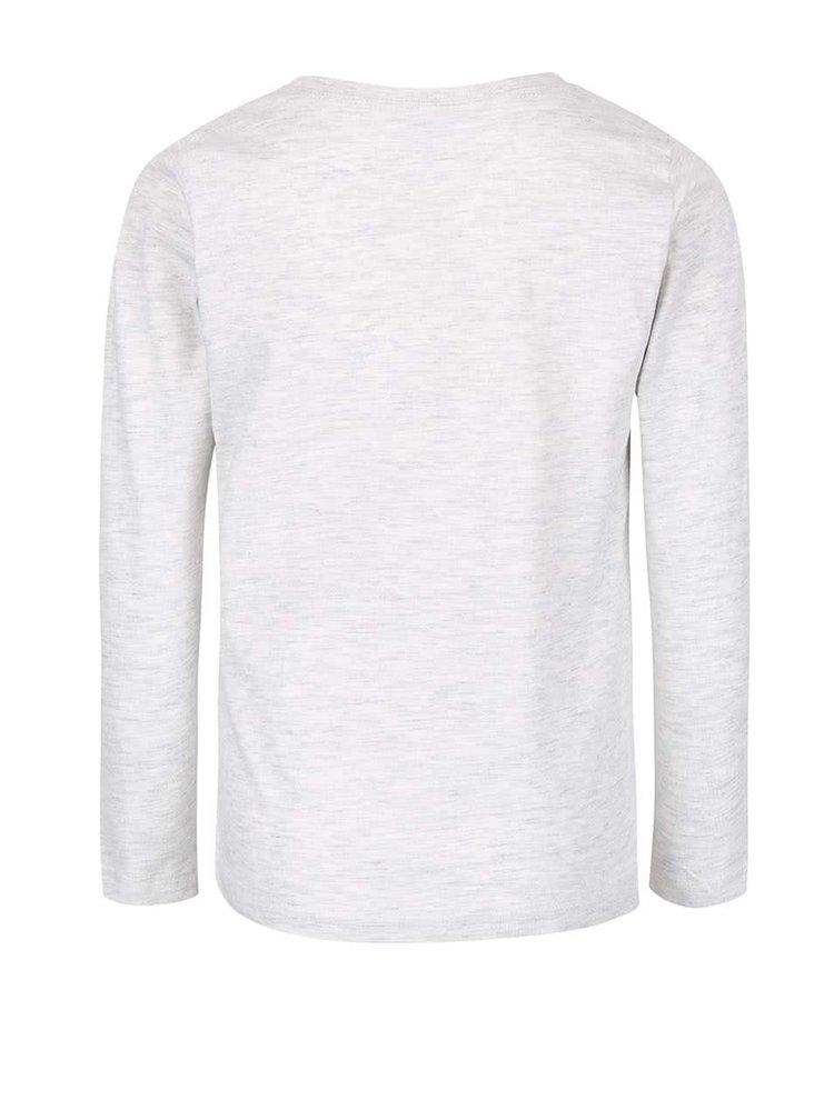 Sivé melírované chlapčenské tričko s potlačou name it Victor